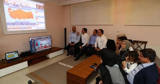 AK Parti Genel Başkanı ve Başbakan Davutoğlu seçim sonuçlarını Konya'da takip ediyor