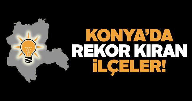 Konya'da bu ilçeler rekor kırdı!