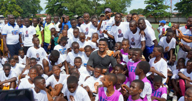Eto'o Ebola İçin Afrika'da