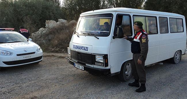 Ilgın'da jandarma ekipleri okul servislerini denetledi
