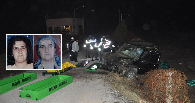 Konya'da hafif ticari araç devrildi: 4 ölü, 2 yaralı