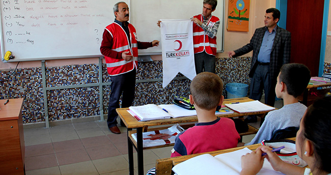 Seydişehir'de öğrencilere Türk Kızılayı tanıtıldı