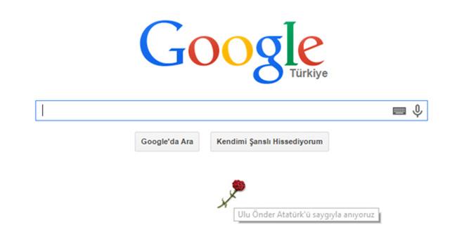 Google'dan Atatürk için 10 Kasım karanfil doodle'ı – Ulu Önder Atatürk'ü saygıyla anıyoruz