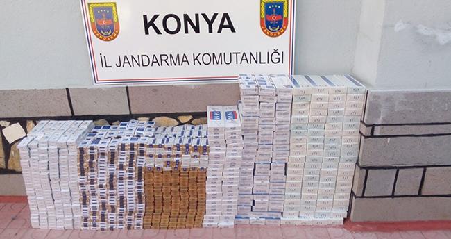 Konya'da Bir Kamyonetten 20 Bin Liralık Sigara Çıktı