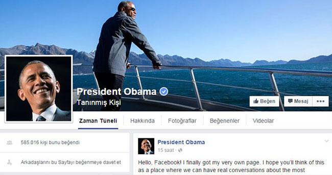 Obama Facebook açtı, ilk yorumu Zuckerberg yaptı