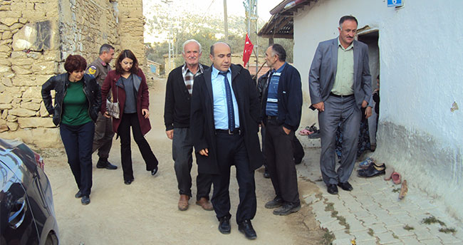 Halkapınar Kaymakamı Çetinbaş'tan mahalle ziyareti