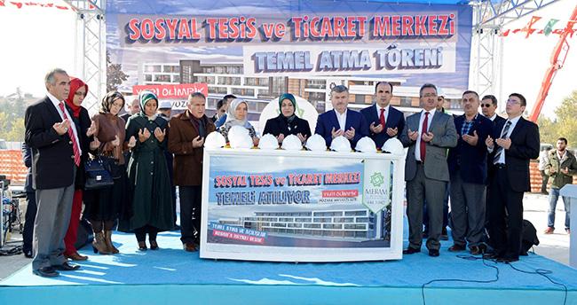Meram'da Sosyal Tesis ve Ticaret Merkezinin Temeli Atıldı
