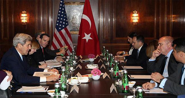 Sinirlioğlu, Kerry ve Mistura ile Suriye'yi görüştü