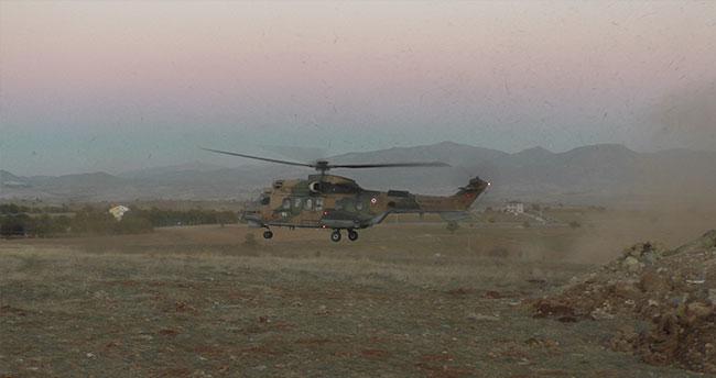 Askeri helikopterde teknik arıza