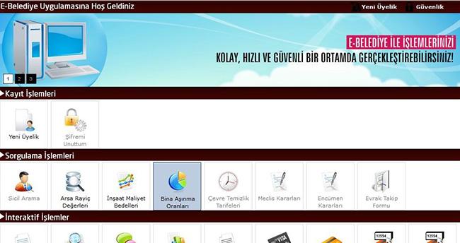 Seydişehir Belediyesi'nden E-Belediye Hizmeti