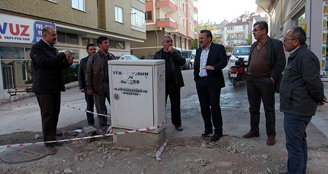 Seydişehir'in Caddelerinde Modernizasyon Devam Ediyor