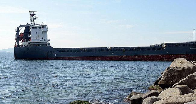 Çanakkale Boğazı'nda yük gemisi karaya oturdu