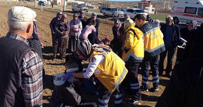 Konya'da diyaliz hastalarını taşıyan minibüs devrildi : 12 yaralı
