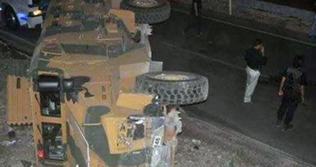 Askeri araç devrildi: 3 yaralı