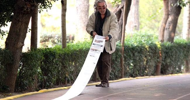 Başbakan Davutoğlu'na 136 metrelik mektup
