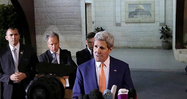 ABD Dışişleri Bakanı Kerry Ramallah'ta protesto edildi