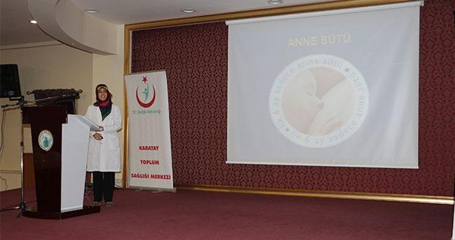 """Karatay'da """"Ağız ve Diş Sağlığı"""" konferansı"""