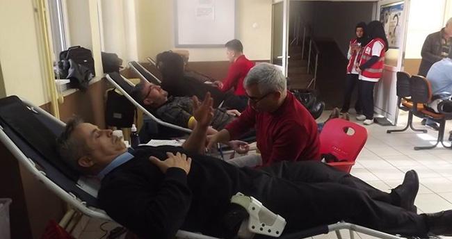 Seydişehir'de Polislerden Kan Bağışına Destek