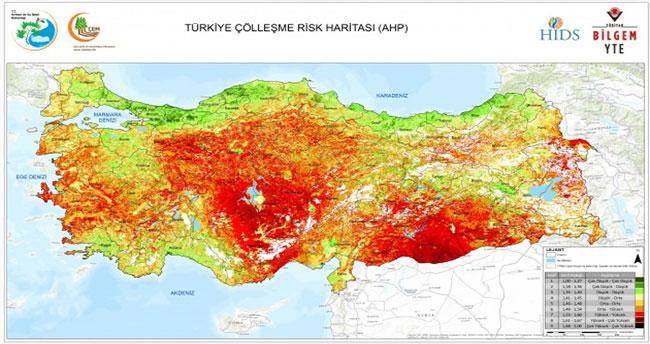 Türkiye topraklarının yarısı tehlike altında