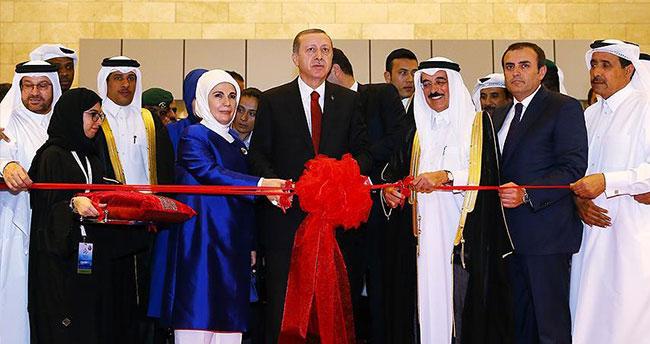 Cumhurbaşkanı Erdoğan Doha'da kitap fuarı açtı