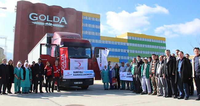 KOMBASSAN'dan Bayır-Bucak Türkmenlerine Gıda Yardımı