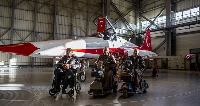 Engelliler Türk Yıldızları'yla buluştu