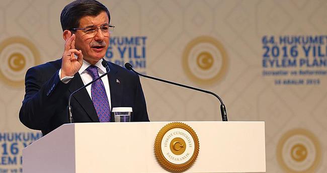 Başbakan Davutoğlu hükümetin eylem planını açıkladı