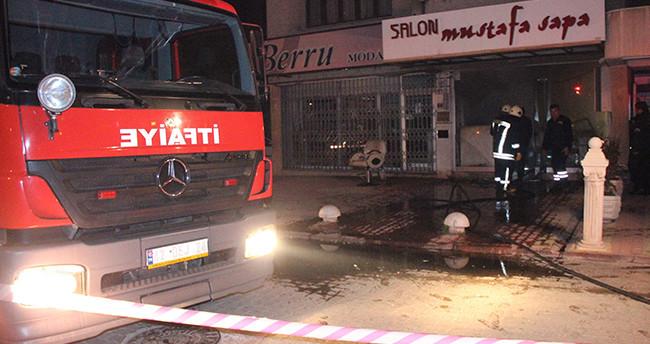 Konya'da kuaför salonunda yangın