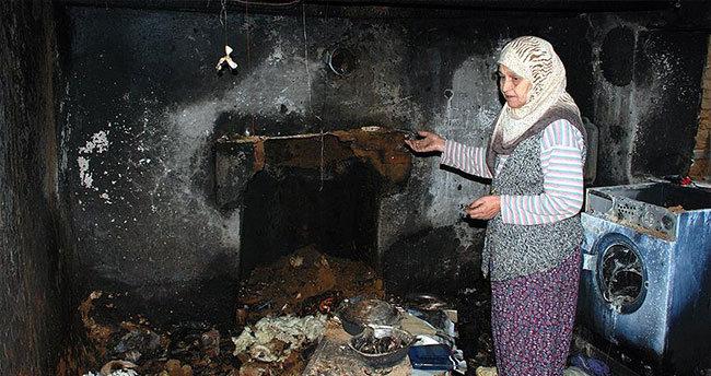 Evleri yanan yaşlı çift için kampanya başlattılar