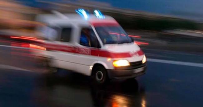 Konya'da otomobilin çarptığı polis ağır yaralandı