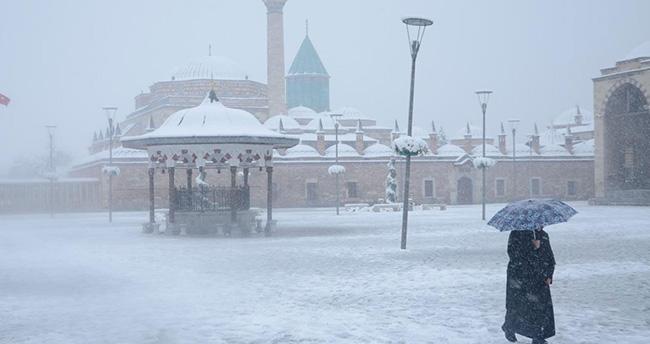 Konya ve çevresi için meteoroloji'den kar uyarısı – Konya hava durumu