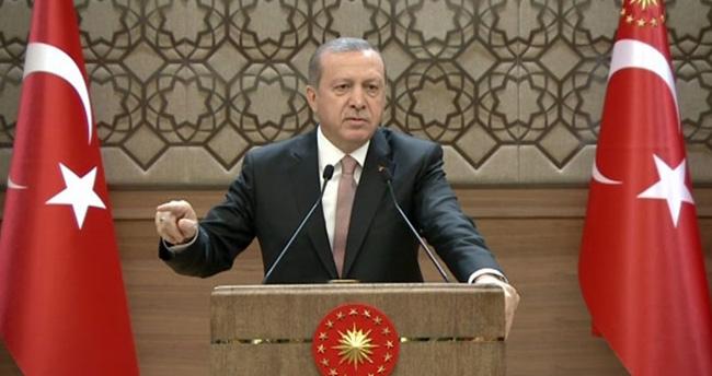 Erdoğan'dan CHP ve HDP'ye sert tepki : 'Hendeklerde yok olacaksınız'