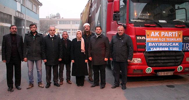 AK Parti Meram'dan Türkmenlere Yardım Tır'ı