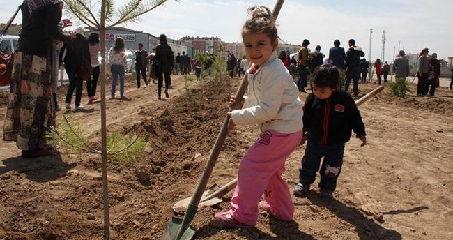 Karatay'da 130 bin ağaç ve bitki türü toprakla buluştu