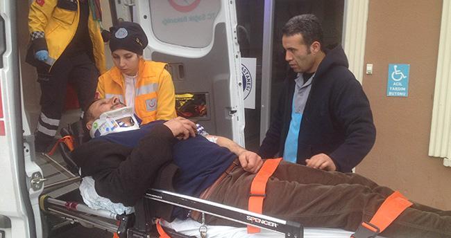 Konya'da otomobil beton mikserine çarptı : 1 yaralı