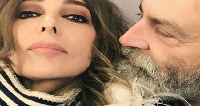 Zerrin Tekindor ile Haluk Bilginer'den aşk selfie'si