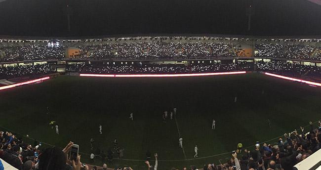 Beşiktaş-Konyaspor maçında elektrikler kesildi!