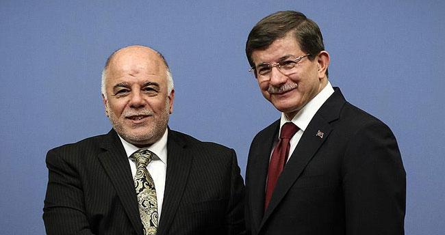 Davutoğlu Irak Başbakanı İbadi ile görüştü