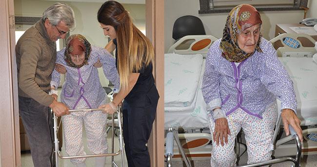 102 yaşında ameliyat oldu, ertesi gün yürüdü