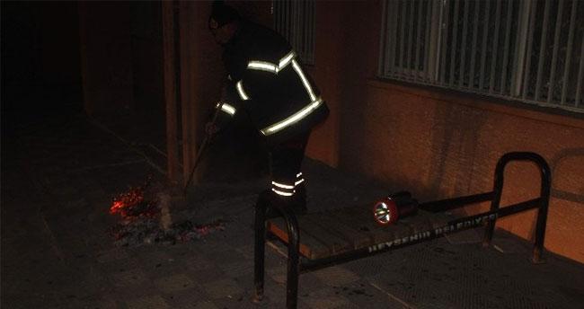 Beyşehir'de Okul Bahçesinde Yangın Alarmı
