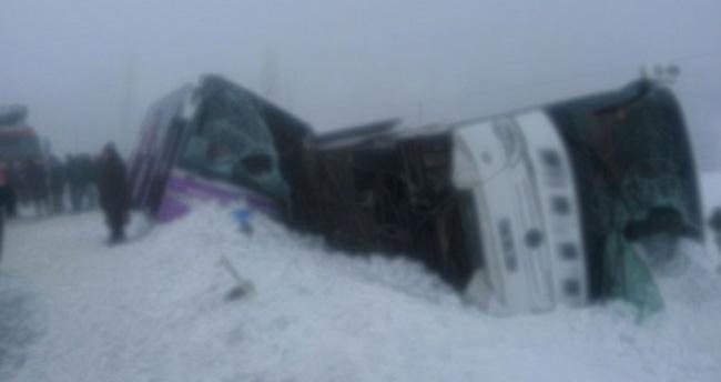 Kırşehir'de 2 otobüs daha devrildi: 24 yaralı