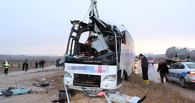 Konya'daki otobüs kazasında ölenlerin kimlikleri belirlendi