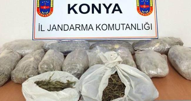 Konya'da 15 kilo esrar ele geçirildi