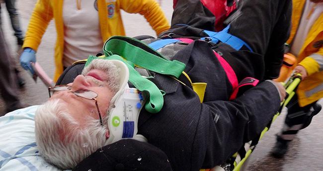 Aksaray'da Otomobilin çarptığı adam hastanelik oldu