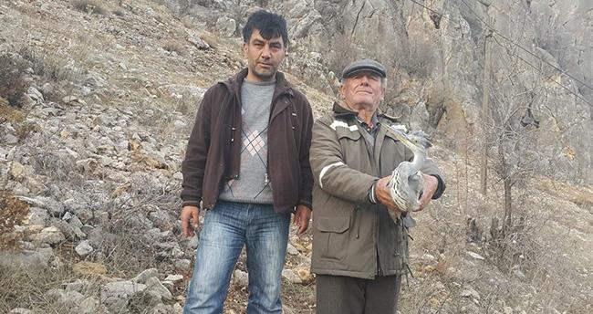 Konya'da yaralı balıkçıla vatandaşlar sahip çıktı