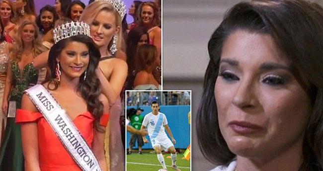 Güzellik kraliçesi futbolcu bıçakladı
