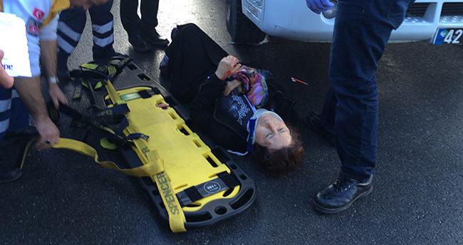 Konya'da otobüsün çarptığı yaya, çöp kamyonunun önüne düştü