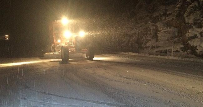 Akseki – Seydişehir yolunda ulaşıma kar engeli