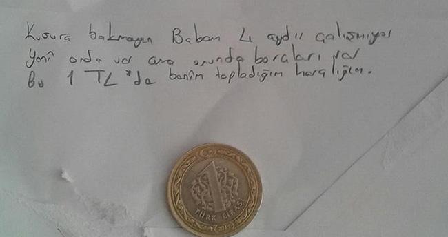 Sur'a bir lira gönderen çocuğun duygulandıran mektubu