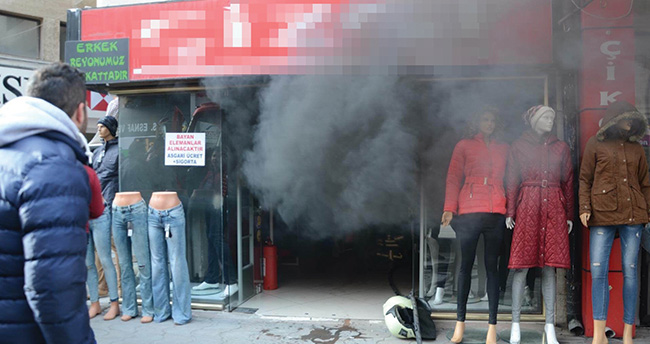 Ereğli'de iş yerinde yangın